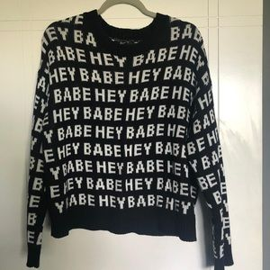Hey Babe Knit Sweater